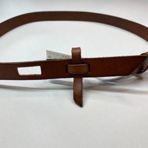 Loft Brown Leather Belt, NWT